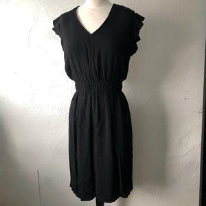 Kate Spade Cinch Waist Ruffle Sleeve Dress